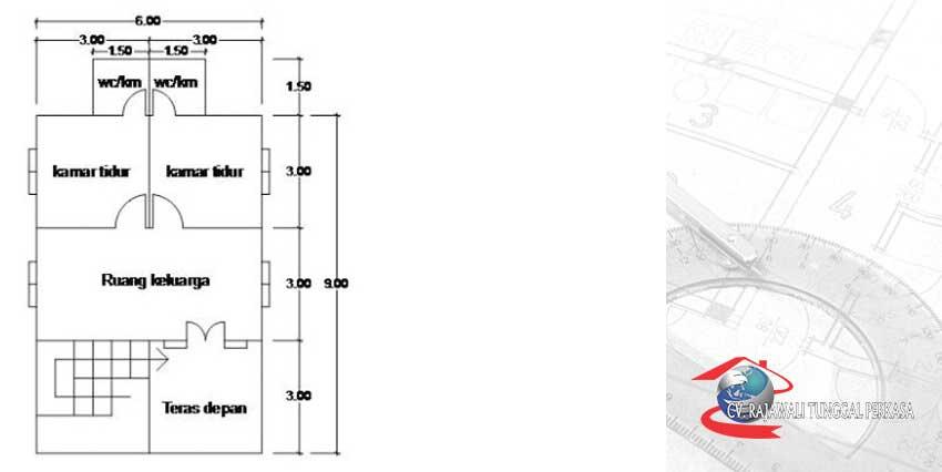 Denah_Rumah-Kayu-Tipe-54-(6×9)
