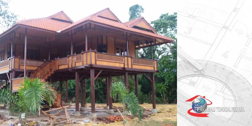 Harga Rumah Kayu Tipe 170 m2 (10m x 17m)