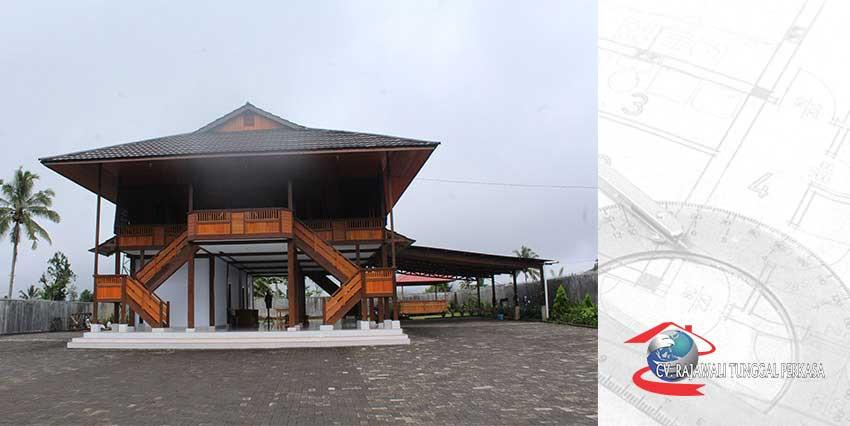Harga Rumah Kayu Tipe 198 m2 (11m x 18m)