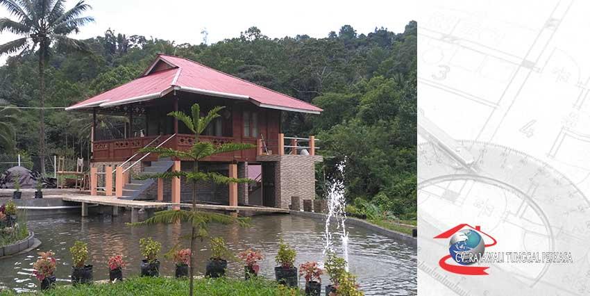 Harga Rumah Kayu Tipe merpati 36 m2 (6m x 6m)