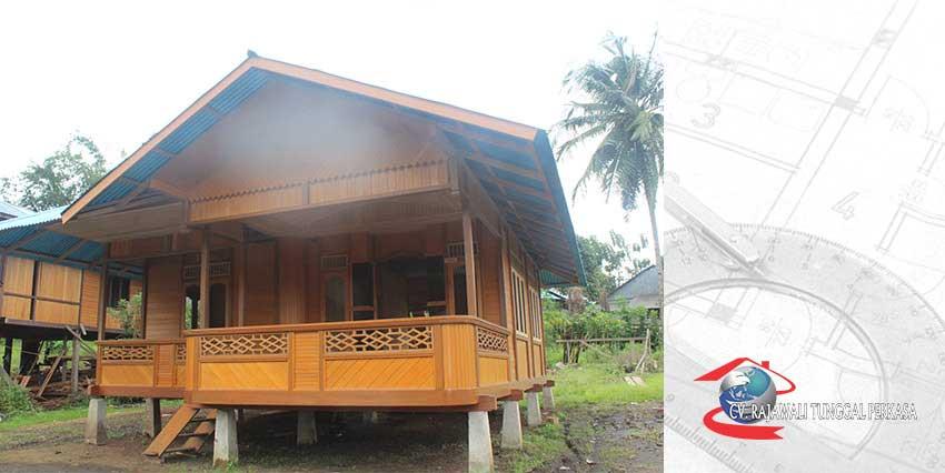Harga Rumah Kayu 63 m2 (7m x 9m)