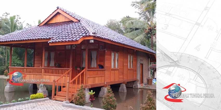 Harga Rumah Kayu Tipe 63 m2 (7m x 9m)