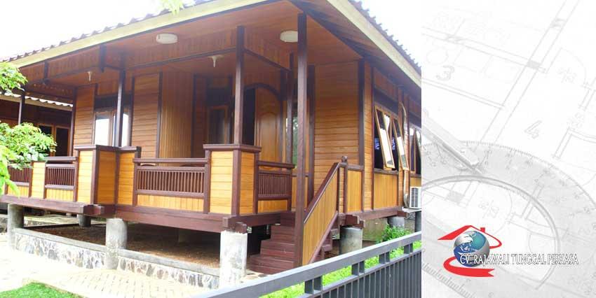 Harga Rumah Kayu Tipe A 63 m2 (7m x 9m)