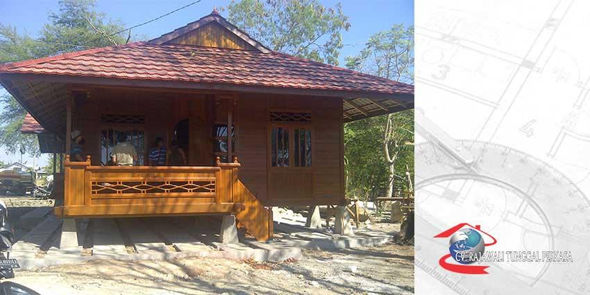 Harga Rumah Kayu Tipe 98 m2 ( 7m x 14m )